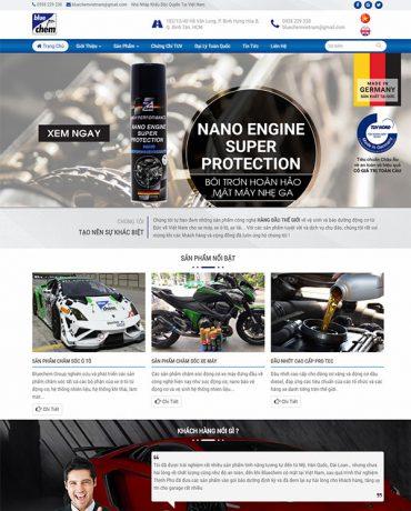 Website bán sản phẩm chăm sóc xe