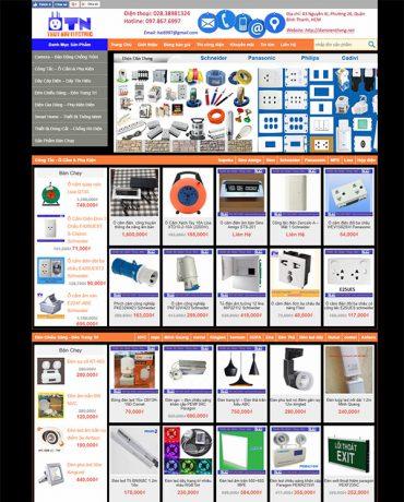 Web site bán thiết bị điện