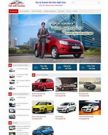 Website xe tải Suzuki