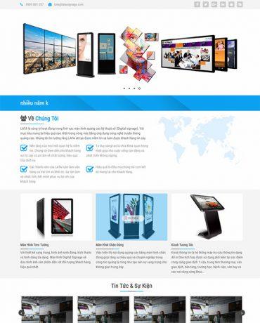 Website bán màn hình quảng cáo kỹ thuật số