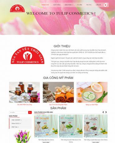 Web mỹ phẩm hoa Tulip