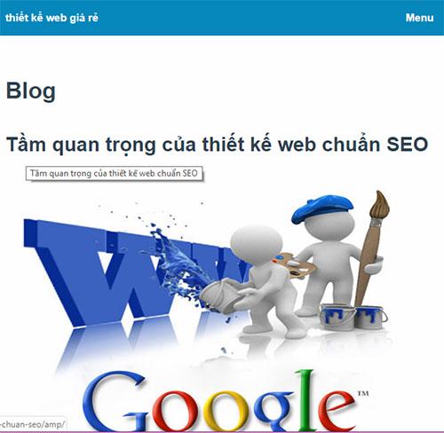 Google AMP là gì? Thiết kế web chuẩn AMP cho wordpress